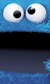 cute cookie monster wallpaper. Cookie Monsters Cute Bigface Cartoon IPhone Wallpaper With Monster