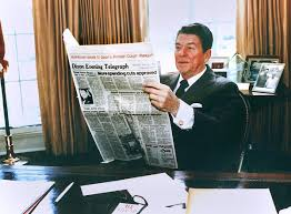 ronald reagan oval office. In This Official White House Photo, President Ronald Reagan Is Shown Reading The Dixon Evening Telegraph\u0027s Feb. 28, 1981, Edition Oval Office. Office