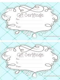 Printable Gift Certificate Templates Make Your Own
