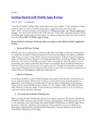 Software Tester Resume Sample Geological Engineer Sample Resume