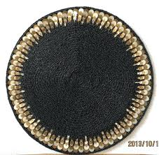 black round table mats handma luxury bead coasters black doilies round table mat kitchen accessories for