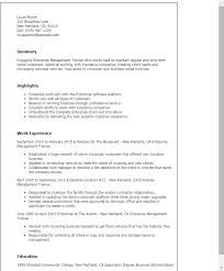 Resume Templates: Enterprise Management Trainee