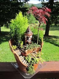 broken pot fairy garden 24
