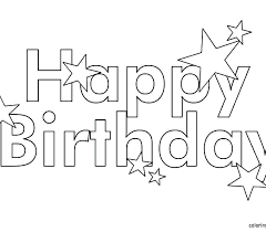 Happy Birthday Mommy Coloring Pages Happy Birthday Coloring Page