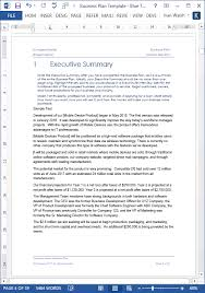 executive business plan template business plan template excel sportsnation club