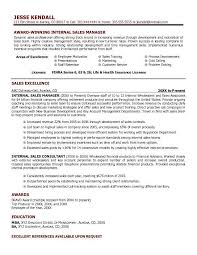 Internal Resume Sample