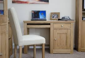 great simple unfinished wood desks in brown