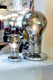 Giant Light Bulb Lamp Giant Smoked Light Bulb Shaped Table Lamp Be Fabulous