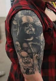Star Wars Darth Vader Stormtrooper Sleeve Tattoos Arm Tattoos