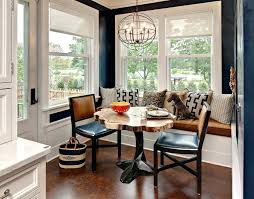 round breakfast nook table round breakfast nook table with transitional wall mirrors dining room and white
