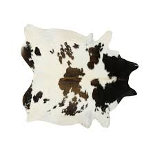 black brown and white special cowhide rug large