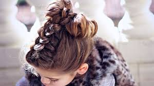 How To Make A Hair Style how to make a hair bow with braid youtube 3056 by wearticles.com