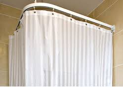 4oz polyester shower curtain with weighted bottom seam striped pattern