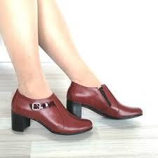 ⭐ Pantofi dama tip botine piele naturala Alexis-bordo - 179,