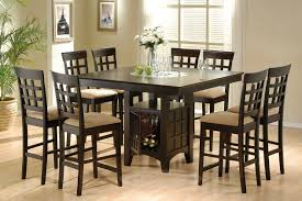 square dining table sets. 9pc Lazy Susan Counter Dining Table W 8 Bar Chairs In Cappuccino Square Sets A