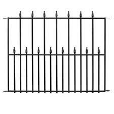 metal fence panels home depot. Black Steel 3-Rail Fence Panel-860190 - The Home Depot Metal Panels T