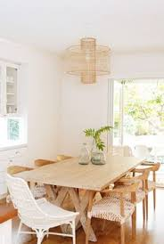 home tour a california eclectic home in silicon valley kitchen diningdining areadining tablerattan dining chairsroom
