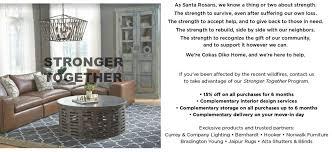 Interior Designer Santa Rosa Ca Stronger Together Cokas Diko Home Furnishings Furniture