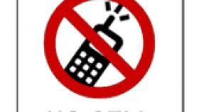 No Cell Phones Sign Printable