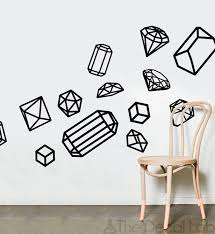 Small Picture Isometric Wall Decals Geometric Shapes Wall Design Customize