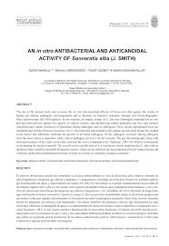 PDF) An in vitro antibacterial and anticandidal activity of Sonneratia alba  (J. Smith)