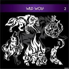 волк татуировка в векторе Vector Wolf Tatoo 2 портал графики и