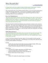 Statement Ofwork Project Management Statement Of Work