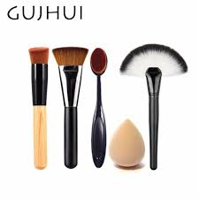 best makeup brush set powder foundation travel cosmetic brushes contouring fan makeup brush tools with sponge puff 86764 makeup brushes from jiami