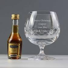 personalised crystal brandy gift set