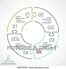 Options Chart Vector Circle Arrows Puzzle Infographic Cycle Diagram
