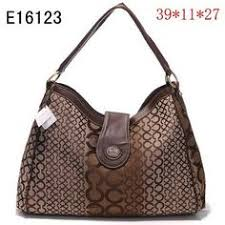 Coach Madison In Logo Large Coffee Shoulder Bags