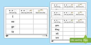 The teacher is able to support and guide the children through the books with the jolly. Tricky Words On Writing Practice Worksheets Teacher Made