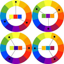 Triadic Color Scheme on 12-color wheels