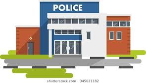 police station building clipart. Simple Police City Police Station Department Building Isolated On White Background In  Flat Style For Police Station Building Clipart T