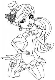 Monster High Coloring Pages 13 Wishes Draculaura Coloringstar