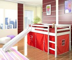 bunk bed with slide and tent. Bunk Bed With Slide And Tent For Loft . T