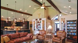 Living Rooms And Vaulted Ceiling Lighting Ideas Kitchen Living Room And Bedroom