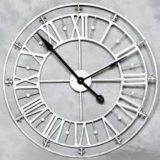 large office clocks. Large Wall Clocks Contemporary Silver Skeleton Clock Extra Uk . Office