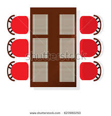 dining chair clipart. top view dining room interior with square table element isolated vector illustration. apartment furniture design chair clipart