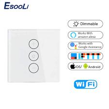 <b>Tuya</b> Smart Life Wifi Smart Wall Touch Light Dimmer Switch <b>EU</b>/<b>UK</b> ...
