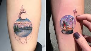 This Tattoo Artist Creates Whole Worlds Of Art Inside A Miniature Circle