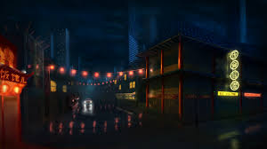 posted in concept art digital painting featured ilration scenery tagged architecture blue buildings cars china chinatown city citylife