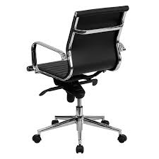 office chair back view. Manchester Low Back Office Chair Black - View