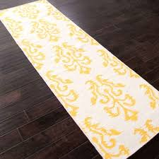 rugs flat weave tribal pattern wool ivory yellow area rug 5x8