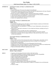 Business Administration Resume Samples Manager Contract Administration Resume Samples Velvet Jobs 69