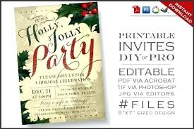 Design Christmas Party Invitations Free A Colorful Striped Party