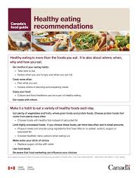 Healthy Eating Recommendations Canadas Food Guide