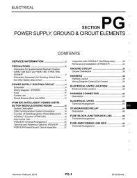 2012 nissan sentra power supply ground circuit elements 2012 nissan sentra power supply ground circuit elements section pg 69 pages