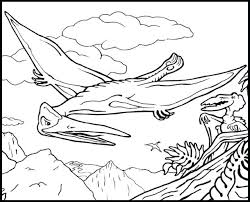 Good Realistic Dinosaur Coloring Pages For Flying Reptile Coloring