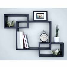 3 cubes intersecting boxes wall shelf home deco storage wall mount shelves black com